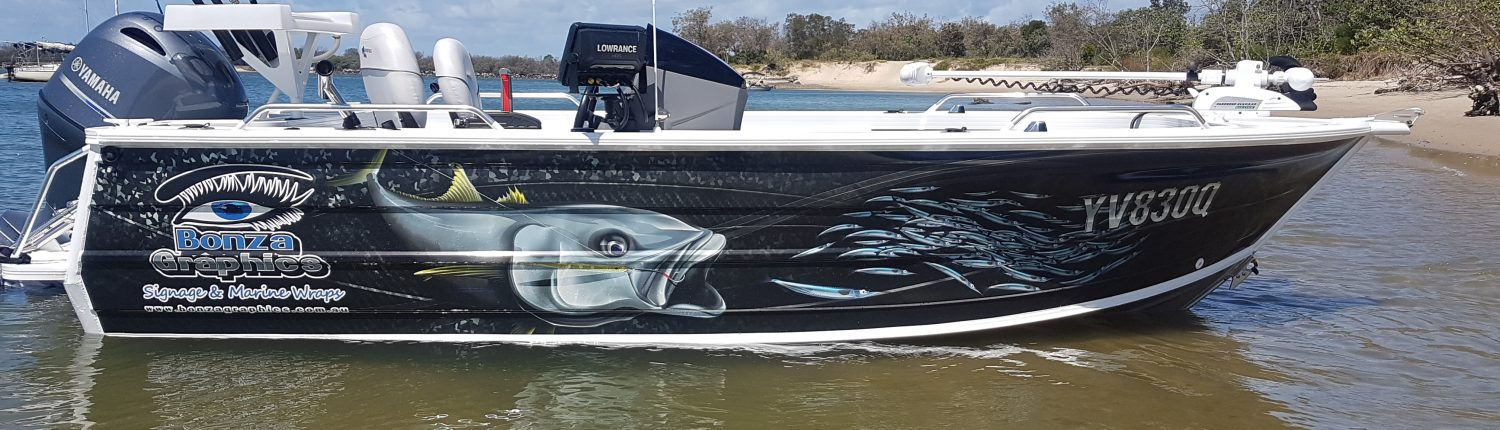 Boat Wraps  Bonza Graphics Australia - Decals for boats australia